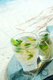 Ice cold mojito cocktail Royalty Free Stock Photos