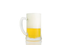 Ice Cold Mug Of Light Beer Isolated Stock Images