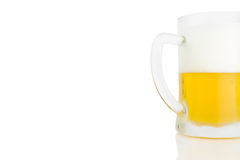 Ice Cold Mug Of Light Beer Isolated On White Royalty Free Stock Photos