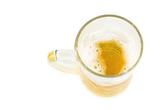 Ice Cold Mug Of Light Beer Isolated On White Royalty Free Stock Images
