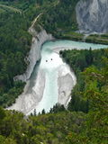 Ice cold river in the Swiss Alps Royalty Free Stock Photo
