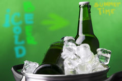 Ice cold summer beer Royalty Free Stock Image