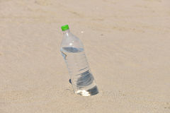 Ice cold unlabelled bottle of refreshing water standing upright Stock Photography