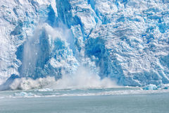 Ice collapse in the Spegazzini Glacier, patagonia, argentina Royalty Free Stock Images