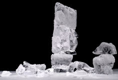 Ice column. Ice pieces and a column of ice Stock Images