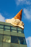 Ice cone on a roof in Cologne Royalty Free Stock Photo