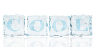 Ice cool. This picture is ice cool with fonts Royalty Free Stock Photos
