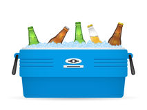 Ice cooler or beer in box vector on white Stock Photography
