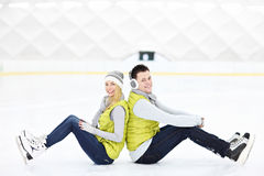 Ice couple Stock Photo
