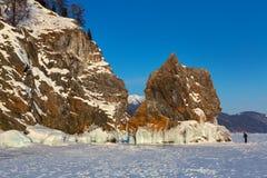 Ice covered island Lohmaty. Stock Image