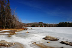 Ice covered lake Stock Photography