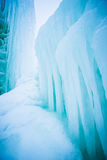 Ice covered mountains good for ice climbing royalty free stock photo