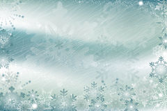 Ice covered with snowflakes Royalty Free Stock Photos