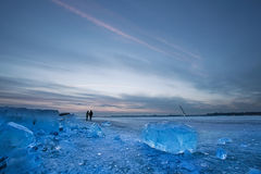 The ice-covered  Songhua River Royalty Free Stock Photography