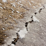 Ice Crack Royalty Free Stock Images