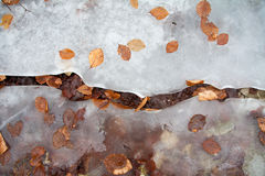 Ice crack on the ground Royalty Free Stock Photo
