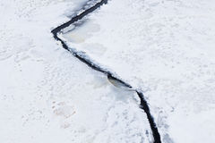 Ice crack nature close-up Royalty Free Stock Photography