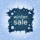 Ice crack winter sale Royalty Free Stock Photography