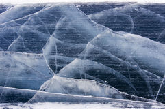 Ice cracks Royalty Free Stock Photo