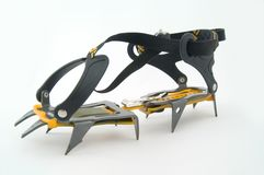 Ice crampons. Royalty Free Stock Photography