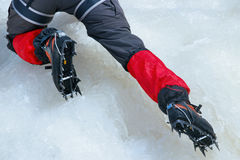 Ice crampons Stock Images