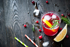 Ice cranberry drink Stock Photos