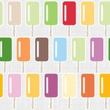 Colorful ice cream in rows pattern on gray Stock Photo