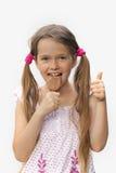 Ice cream. 7 year old girl with ice cream Stock Photos