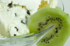 Ice Cream. In bowl with fruits Royalty Free Stock Photography