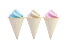 Ice cream. On a white background Royalty Free Stock Photography