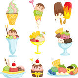 Ice cream. A vector illustration of delicious ice cream Stock Photography
