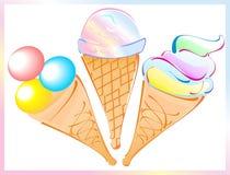The ice cream Royalty Free Stock Photos