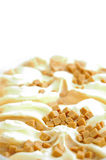 Ice cream. Refrigerant beautiful green cream ice on white background Royalty Free Stock Photo