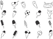 Ice Cream. 20 themed EPS images of ice cream. The number of vector nodes is absolute minimum. The images are very easy to use and edit and are extremely smooth vector illustration