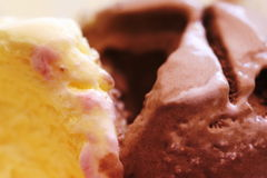 Ice-cream. Vanilla and chocolate ice-cream Royalty Free Stock Image