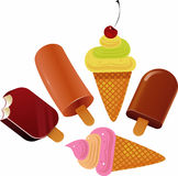 Ice cream. The ice cream. Vector image Stock Images