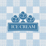 Ice cream against tablecloth in the box Stock Photography