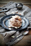 Ice cream. With almond crunch and chocolate Royalty Free Stock Photo