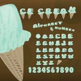 Ice cream alphabet. Royalty Free Stock Photography