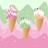 Ice cream. Amazing ice cream for every taste. Vector illustration Royalty Free Stock Image