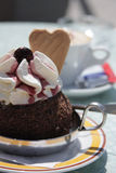 Ice-cream And Coffee Royalty Free Stock Photo