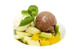 Free Ice Cream And Fruit Stock Photos - 23787073
