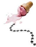 Ice cream with ants Stock Image