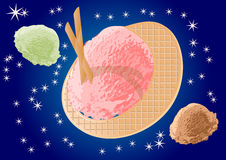 Ice cream as planets Stock Photography