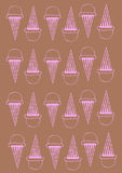 Ice cream background. Illustration of an ice cream generated on the computer Royalty Free Stock Photography