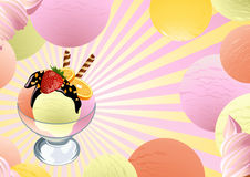Ice_cream_background Fotografia de Stock Royalty Free
