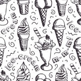 Ice-cream background Stock Photos