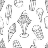 Ice cream background vector illustration