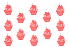 Ice Cream Background Pattern Royalty Free Stock Images