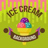 Ice cream background Stock Photo